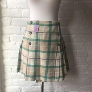 NWT Vintage Sears Jr. Bazaar Plaid Wool Mini Skirt